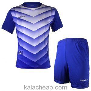 پیراهن و شورت ورزشی مردانه ریبوک طرح هفتی آبی