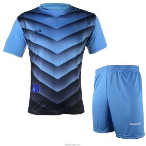 reebok shirts and shorts men set blue light